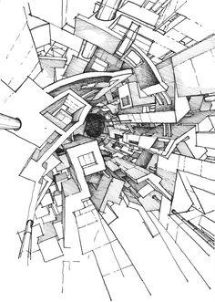 236x331 Imaginary Jerusalem Drawing By Stefan Davidovici, Architect