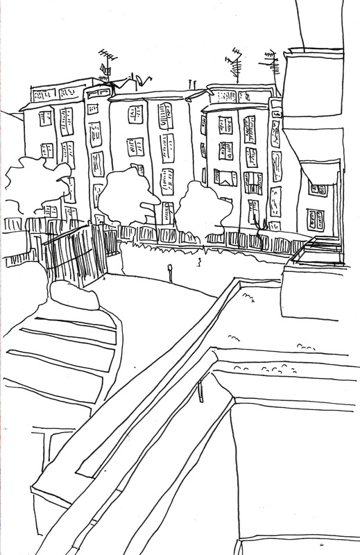 519x800 Journalistic Drawing Viterbo,italy (July 2015)