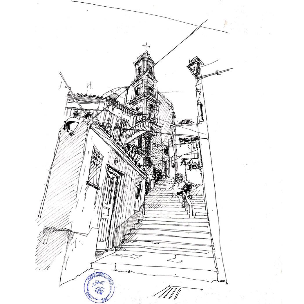 1048x1048 Amalfi Coast A Fresh Drawing Everyday