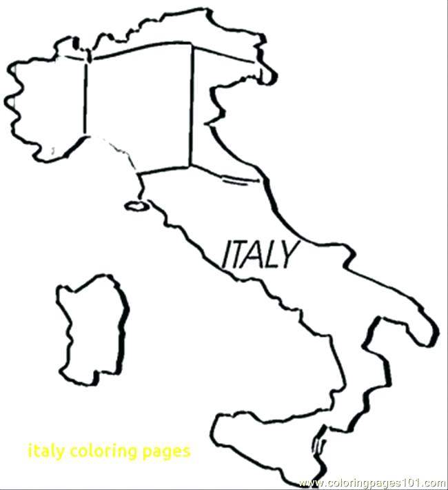 650x710 Delightful Italy Coloring Pages Kids
