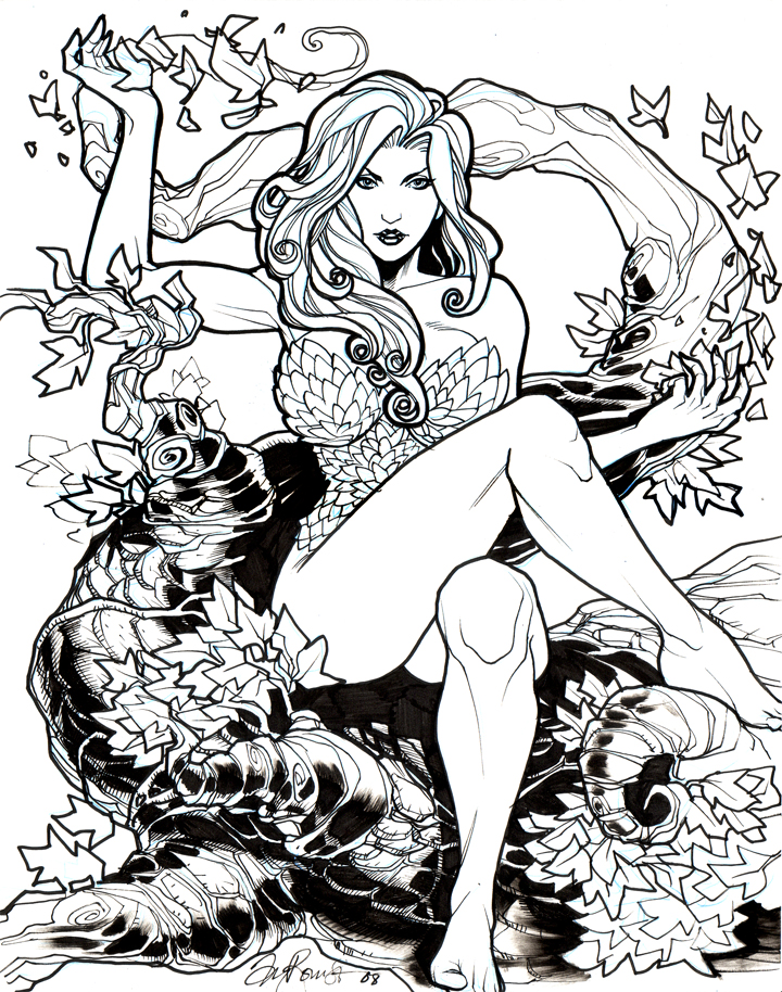 720x914 Poison Ivy W.i.p Sketch By Tyromsa