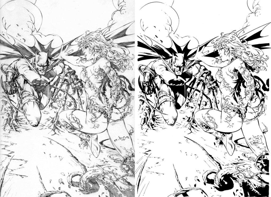 1024x748 Batman Vs Poison Ivy By Ernestj23
