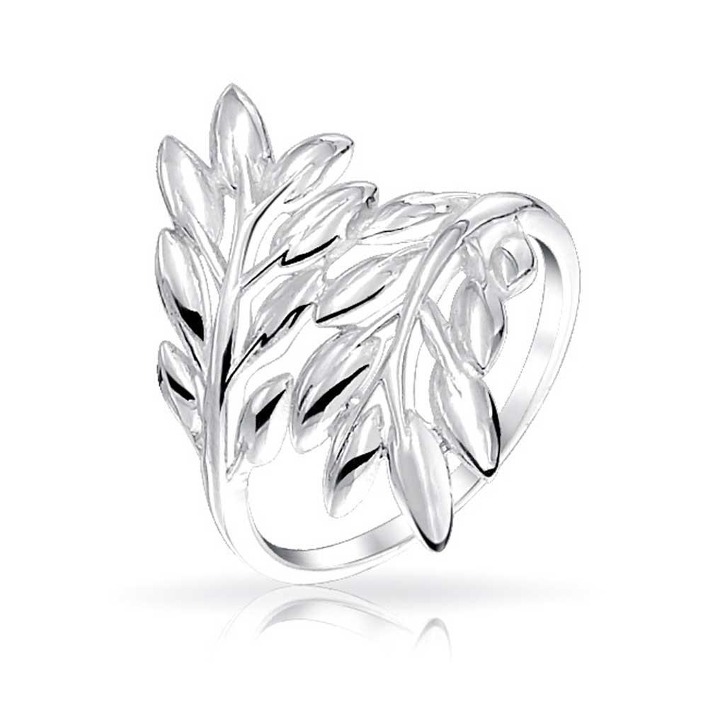 1000x1000 Polished 925 Sterling Silver Laurel Leaves Ivy Leaf Ring