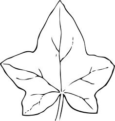 236x248 Ivy Leaf Pattern. Use The Printable Outline For Crafts, Creating
