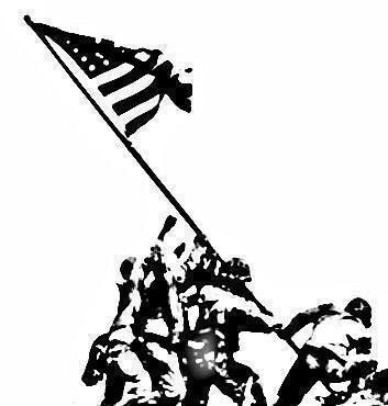 Iwo Jima Flag Raising Drawing At Getdrawings Com