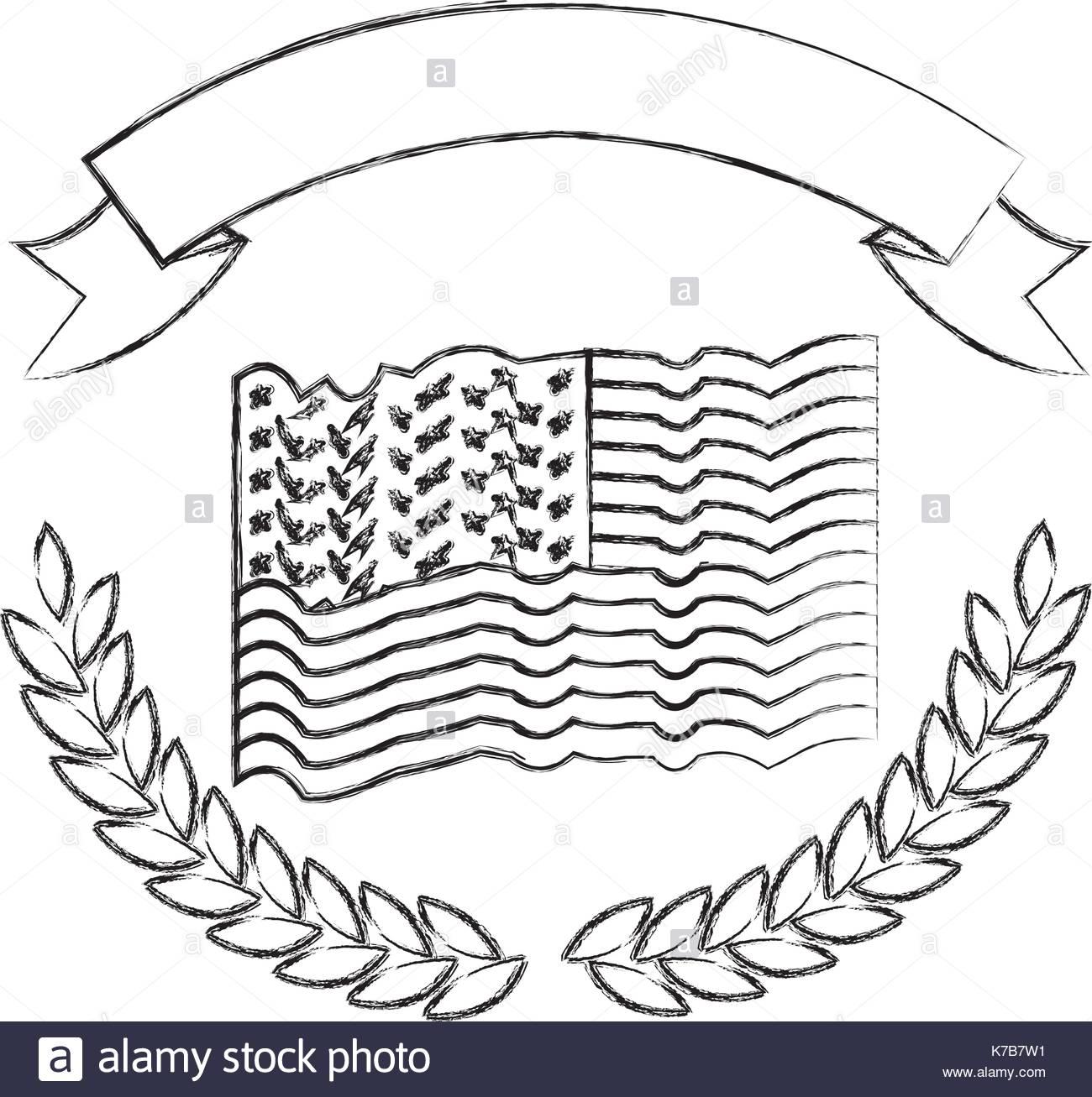 1300x1307 United States Flag Black And White Stock Photos Amp Images