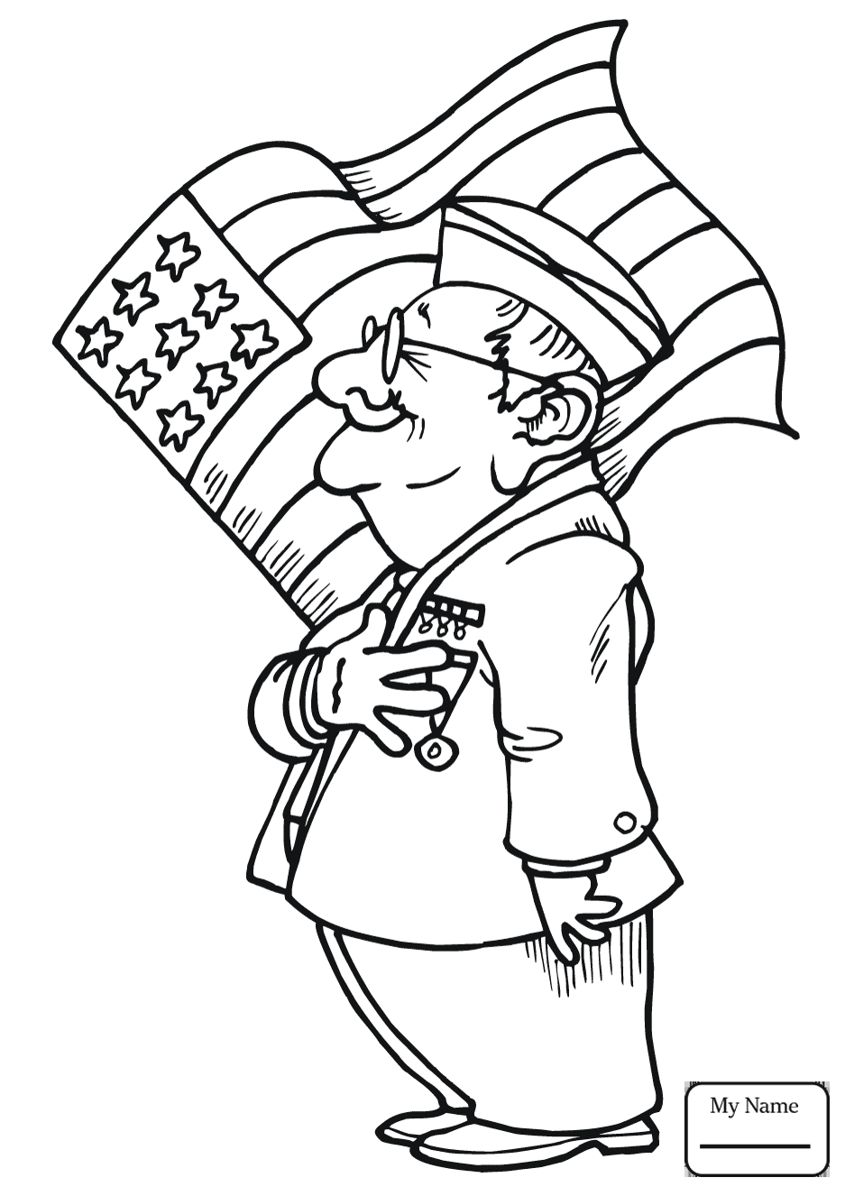 937x1326 Coloring Pages For Kids Veterans Day Holidays Raising The Flag