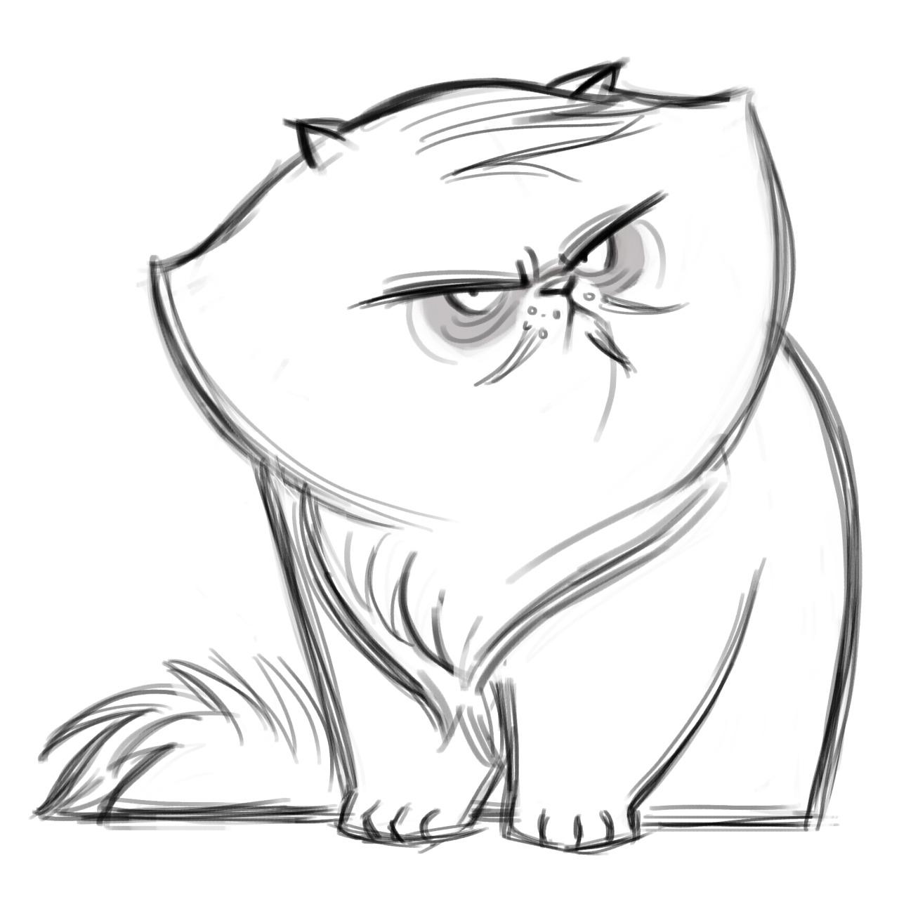 1280x1277 Daily Cat Drawings