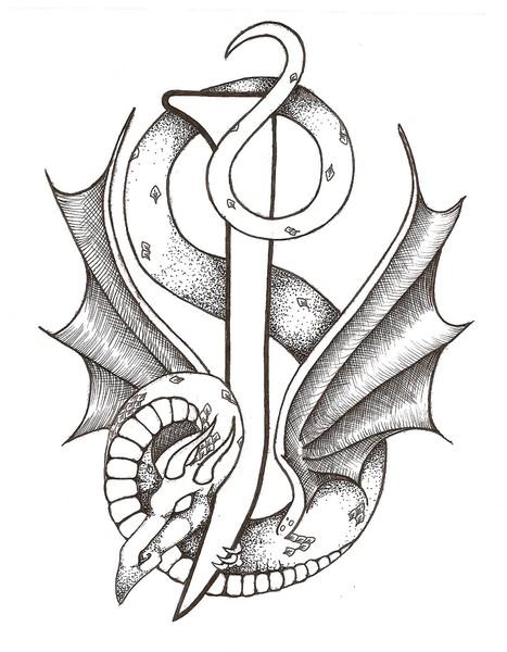 467x600 Dragon Letter J By Tamara Newman