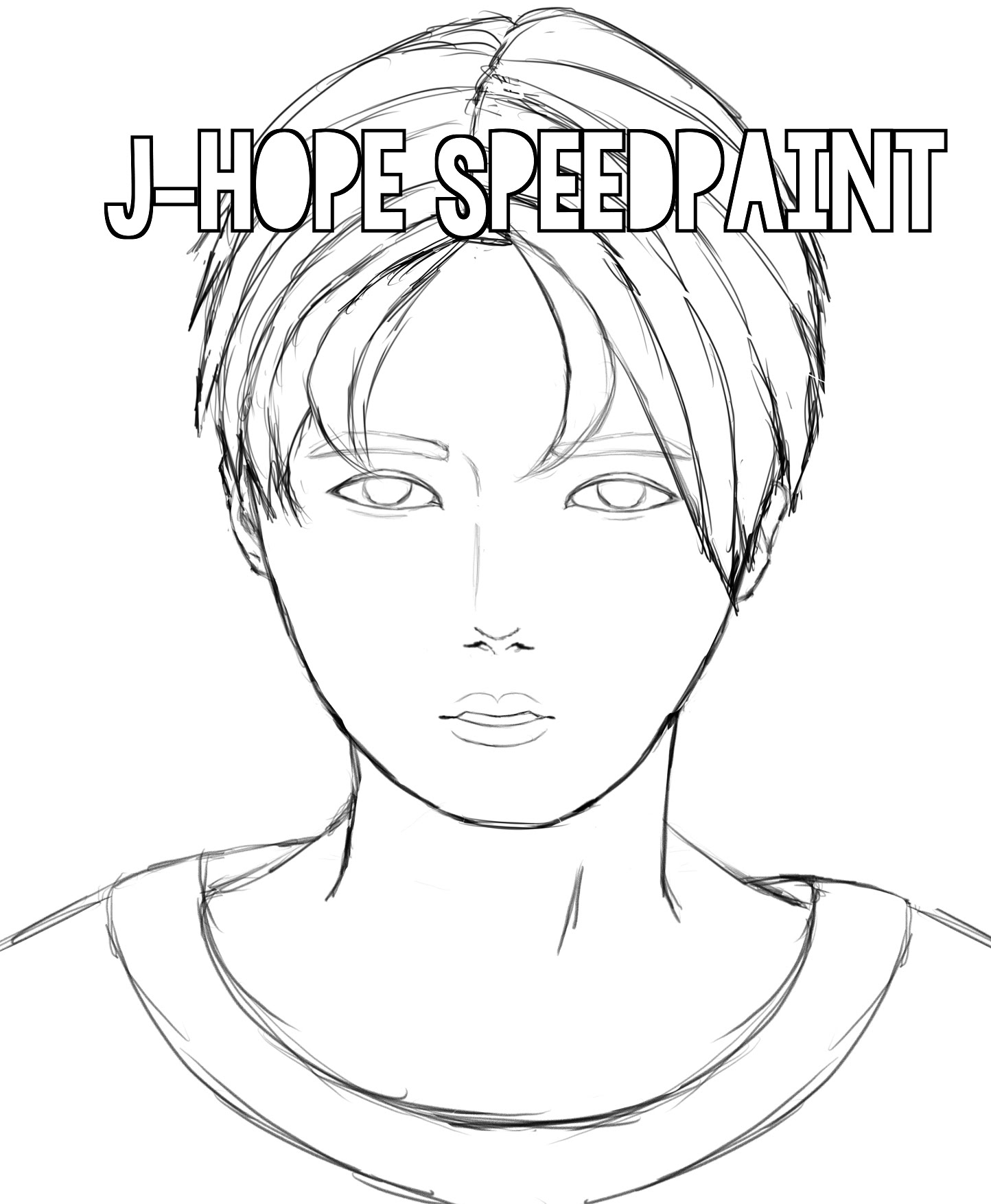 1444x1754 J Hope Speed Sketch {Kpop Fan Art}