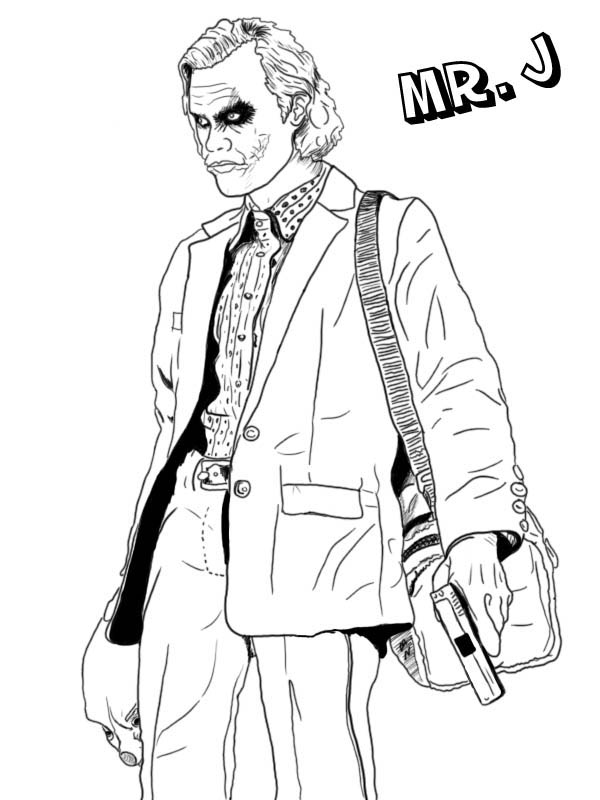 600x800 Joker Coloring Pages Mr J Is Joker Coloring Page Netart