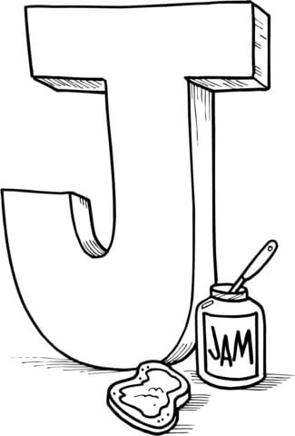 325x480 Letter J Is For Jam Coloring Page Free Printable Coloring Pages