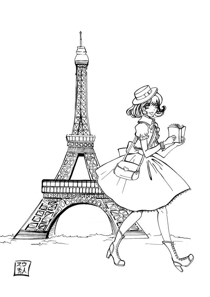 679x960 Sketchbook , J'Aime Paris By Suu Hideto