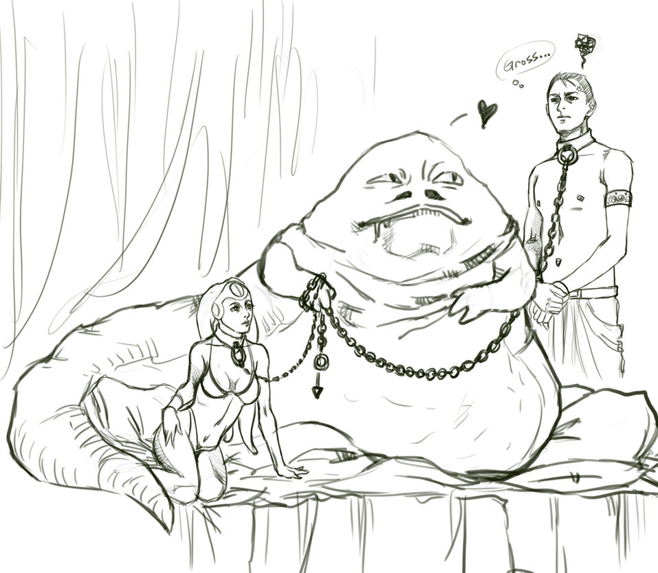 957x834 Lian Organa With Jabba The Hutt By Fluorinespark