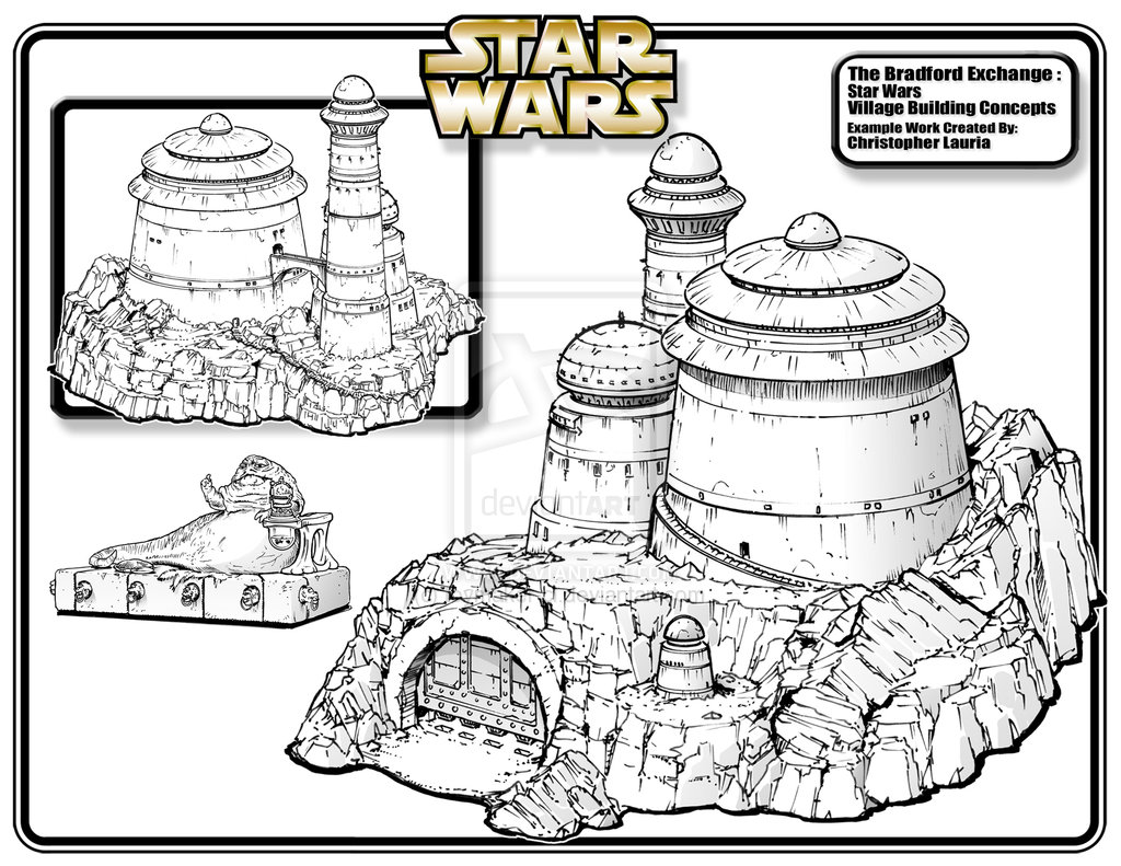 1024x791 Concept Art For Hawthorne Jabba's Palace Jabba And His Palace