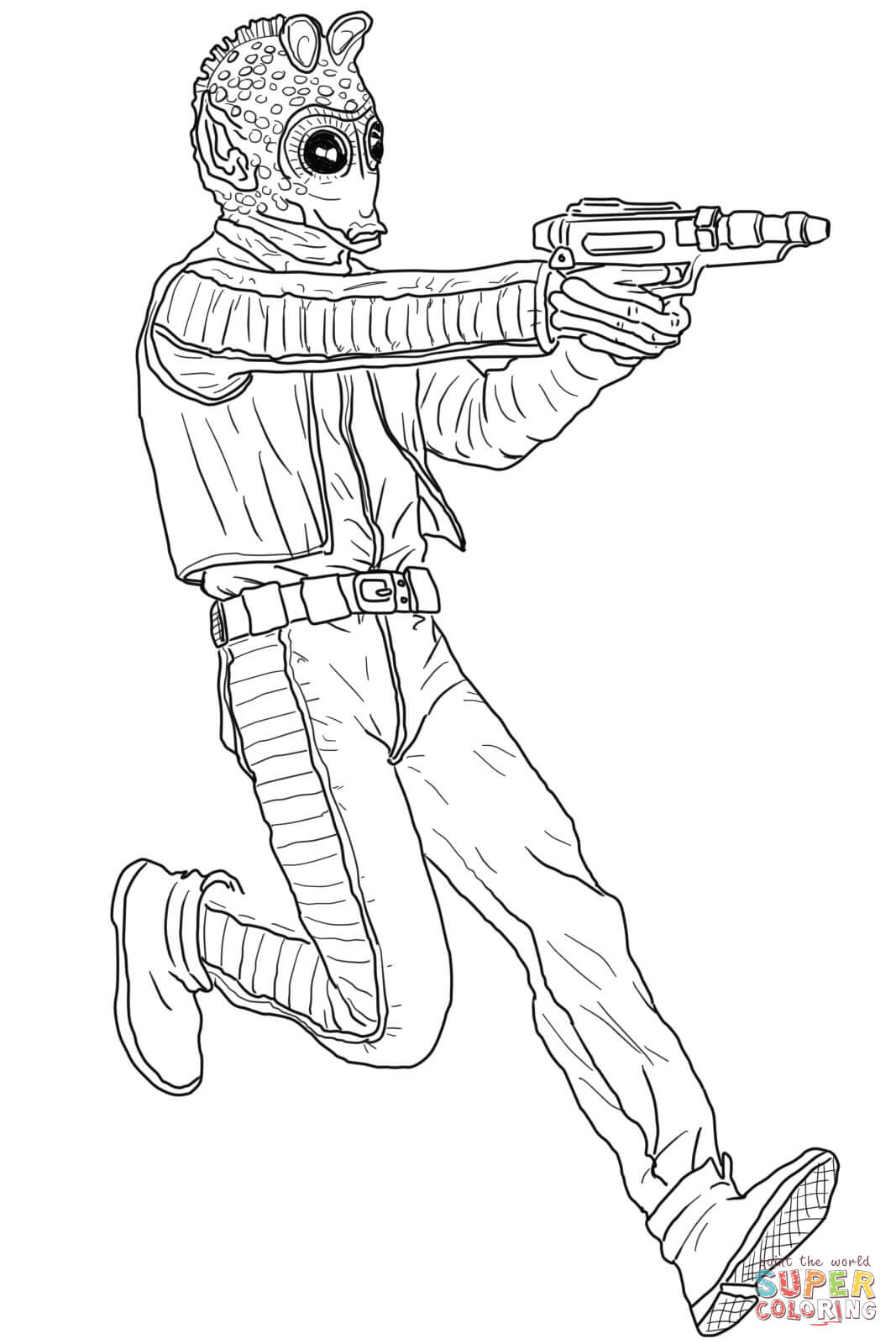 1067x1600 Boba Fett Coloring Page