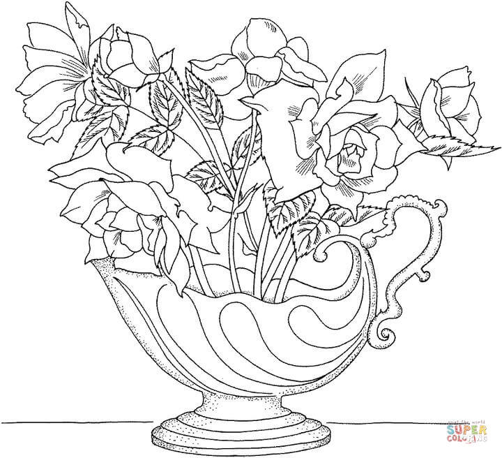 720x656 Holy Toledo' Miniature Rose Coloring Page Free Printable