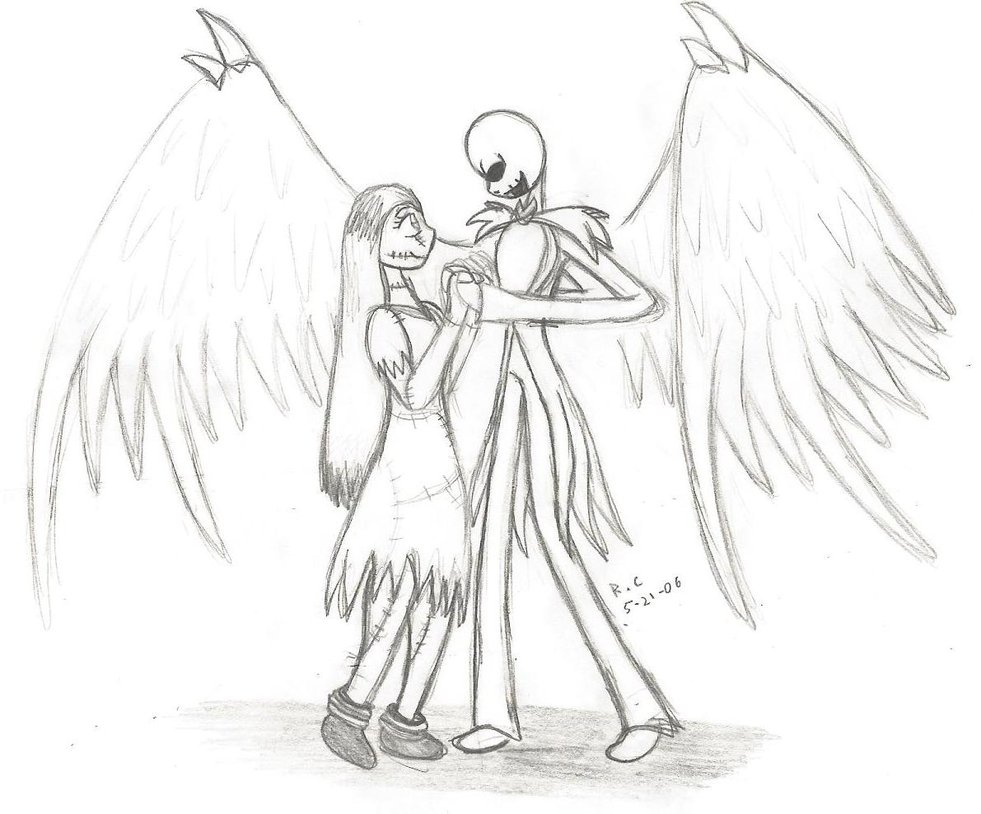 Jack And Sally Drawing