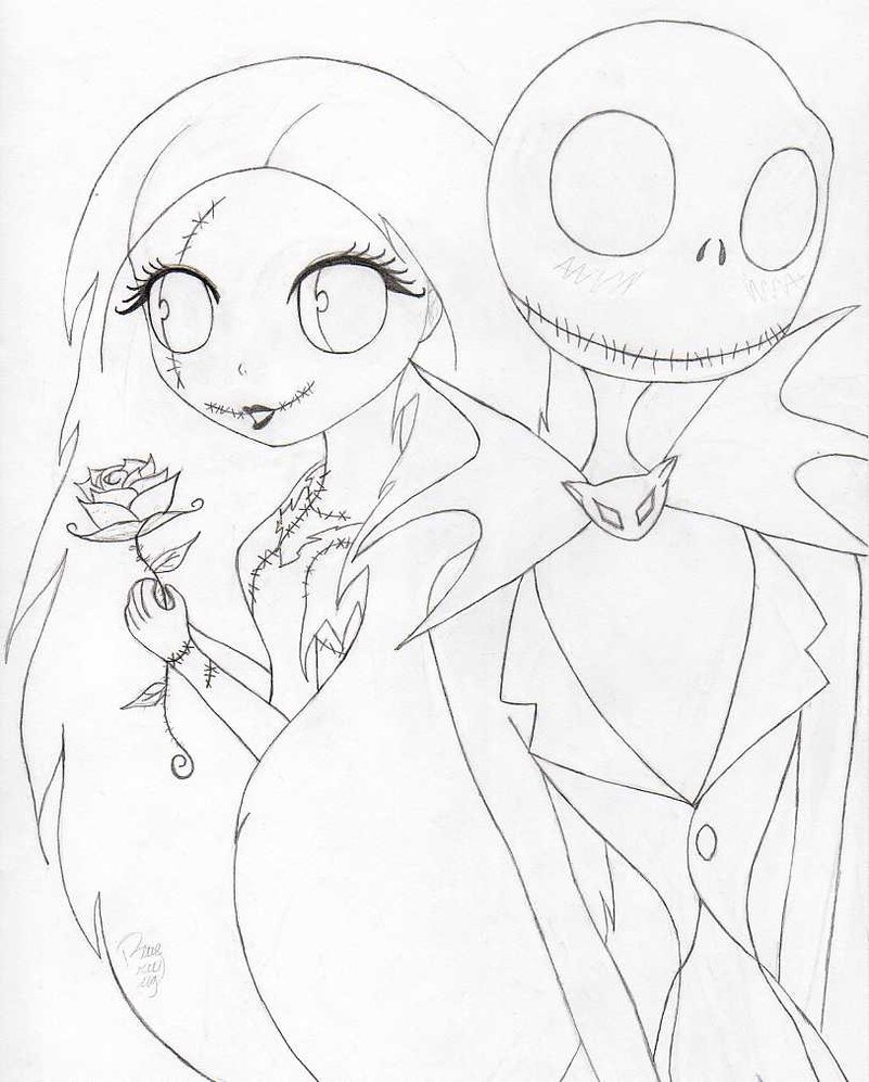 801x997 Jack And Sally By Blue Britt Bug