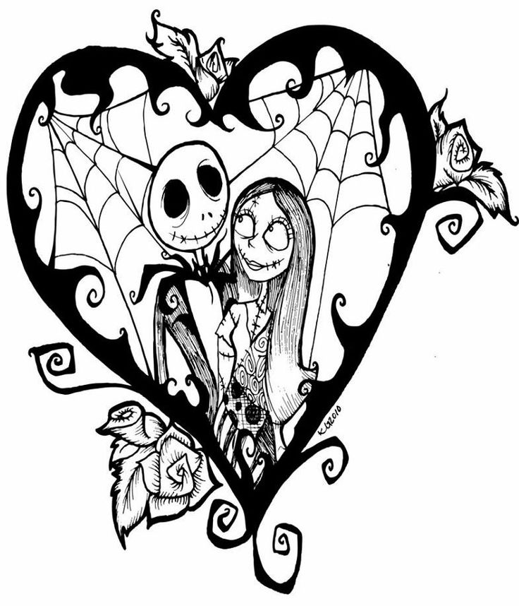 736x858 Nightmare Before Christmas Jack And Sally Drawings