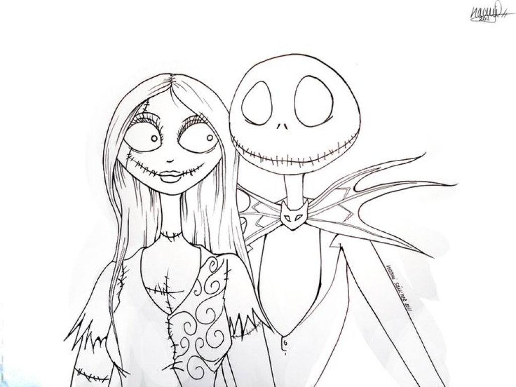 1024x768 The Nightmare Before Christmas Jack Coloring Pages