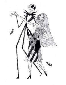 232x300 We Can Live Like Jack And Sally If We Want Drawing