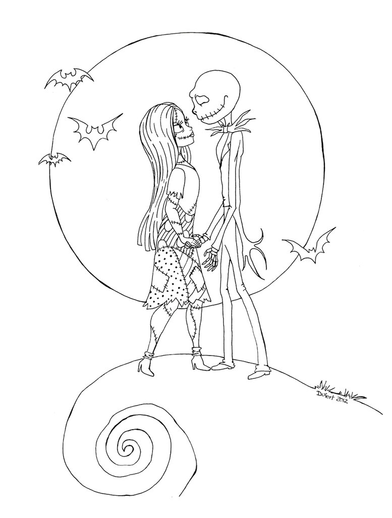 Jack And Sally Drawing at GetDrawingscom Free for personal use