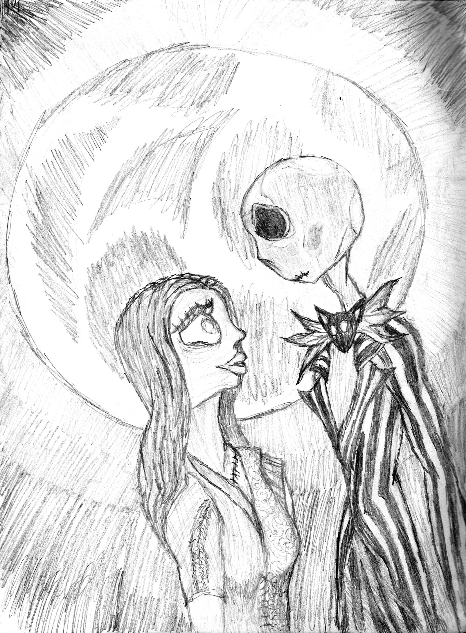 1605x2180 Jack And Sally By Solarperplexia