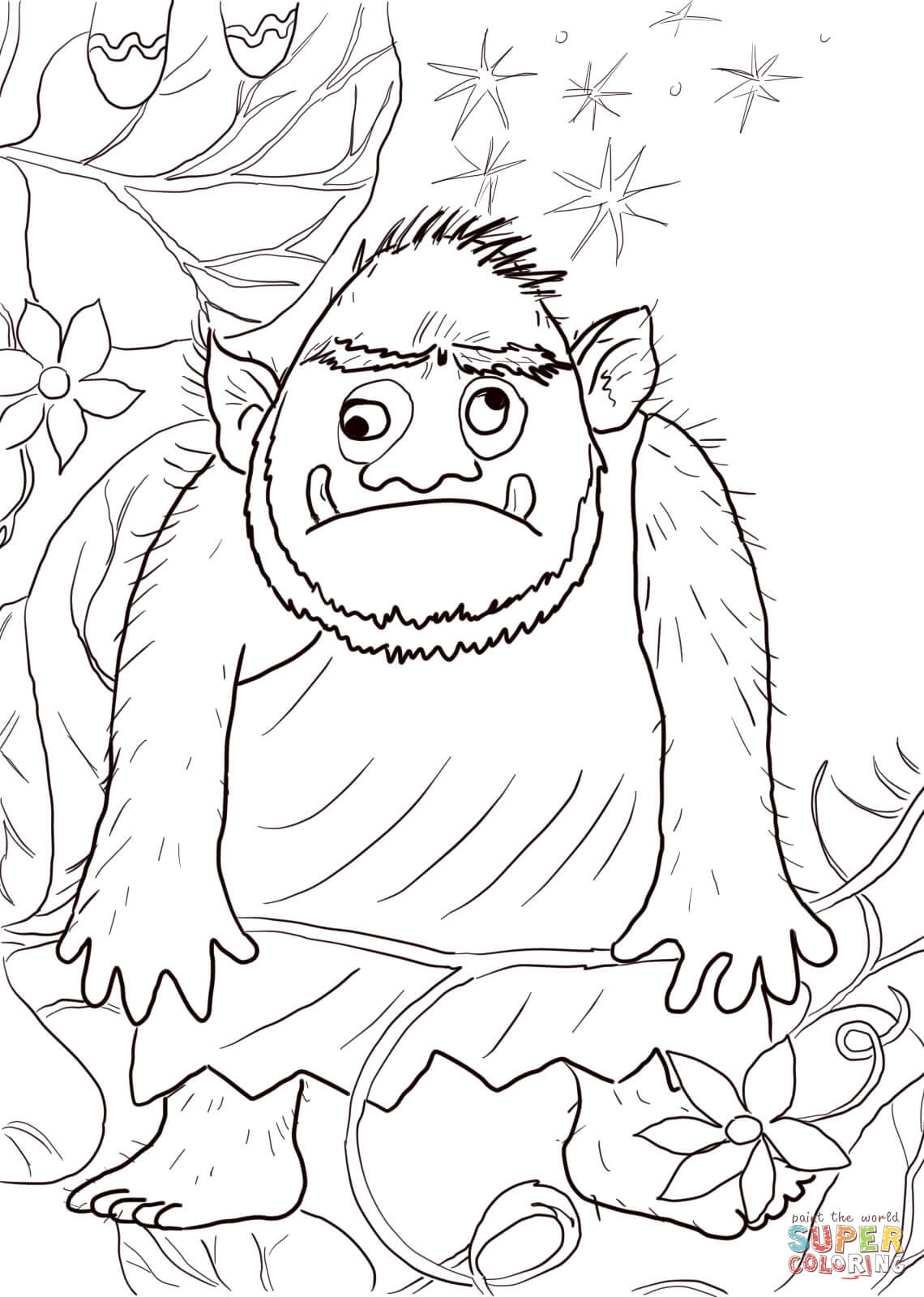 1140x1600 Giant From Jack And The Beanstalk Coloring Page Free Printable