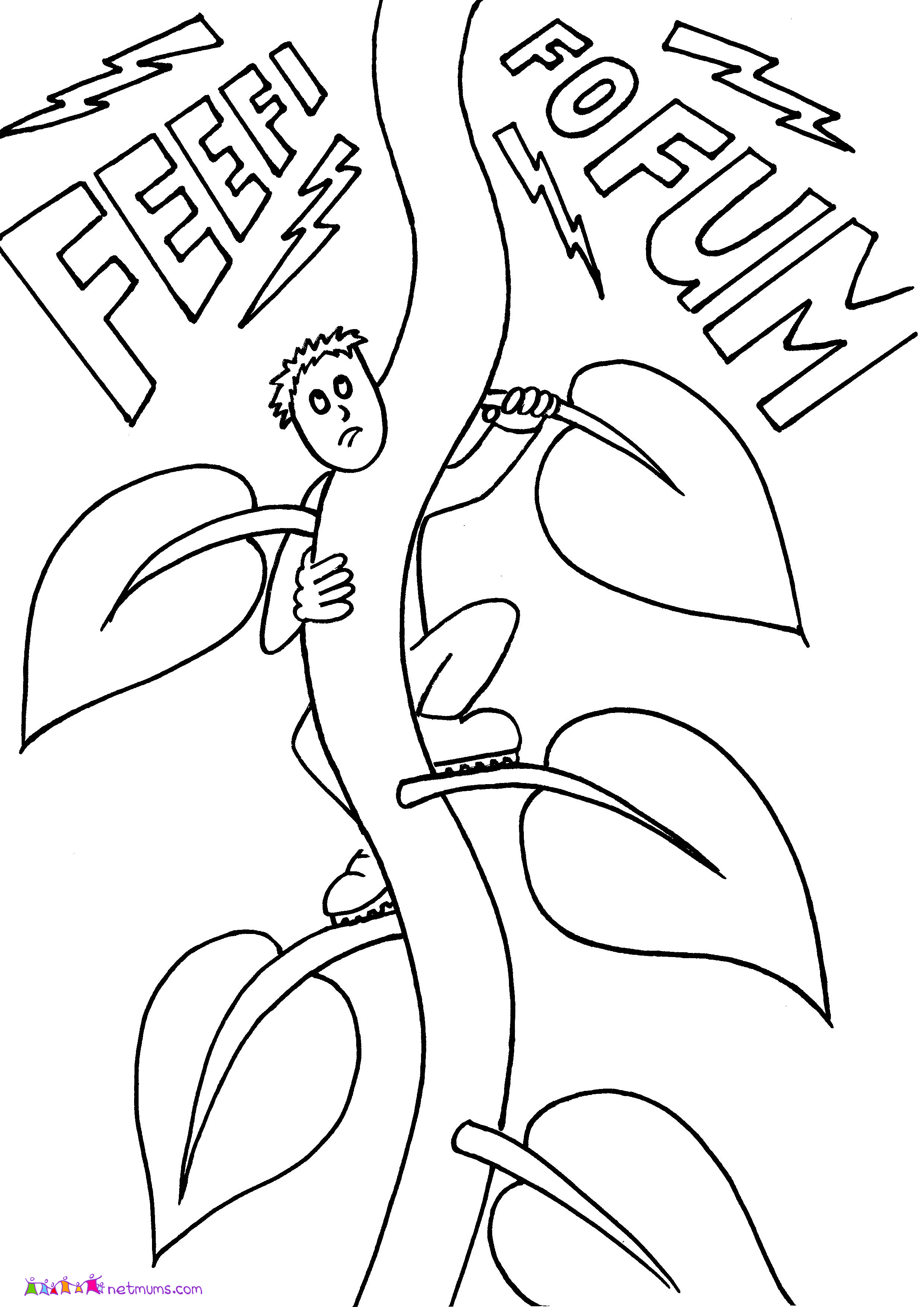 cartoon giant coloring pages | Jack And The Beanstalk Drawing at GetDrawings.com | Free ...