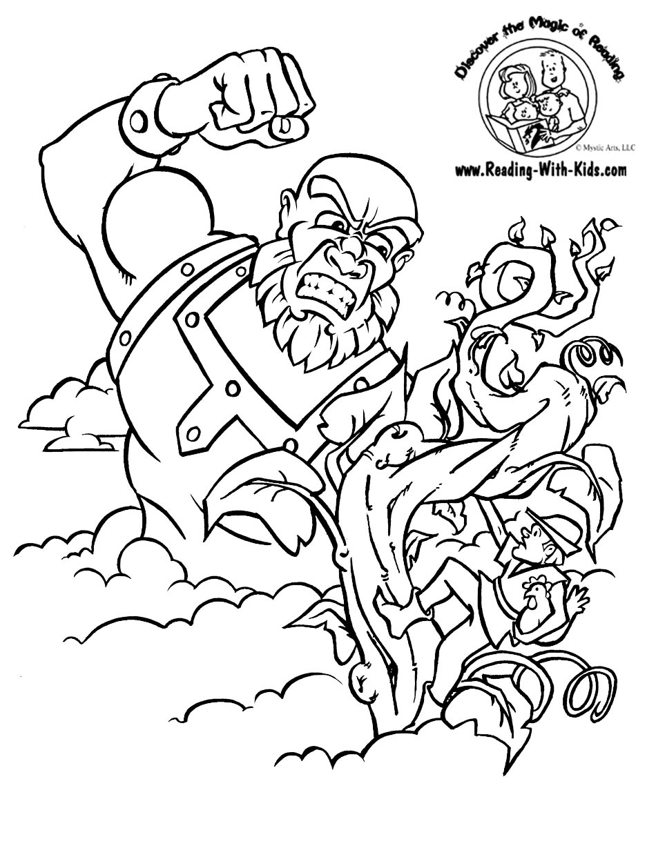 950x1229 Jack And The Beanstalk Coloring Sheet