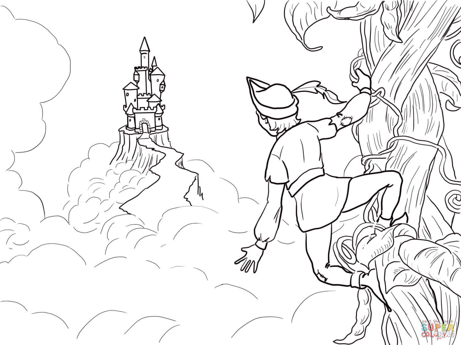 1600x1200 Jack And The Beanstalk Castle Coloring Page Free Printable