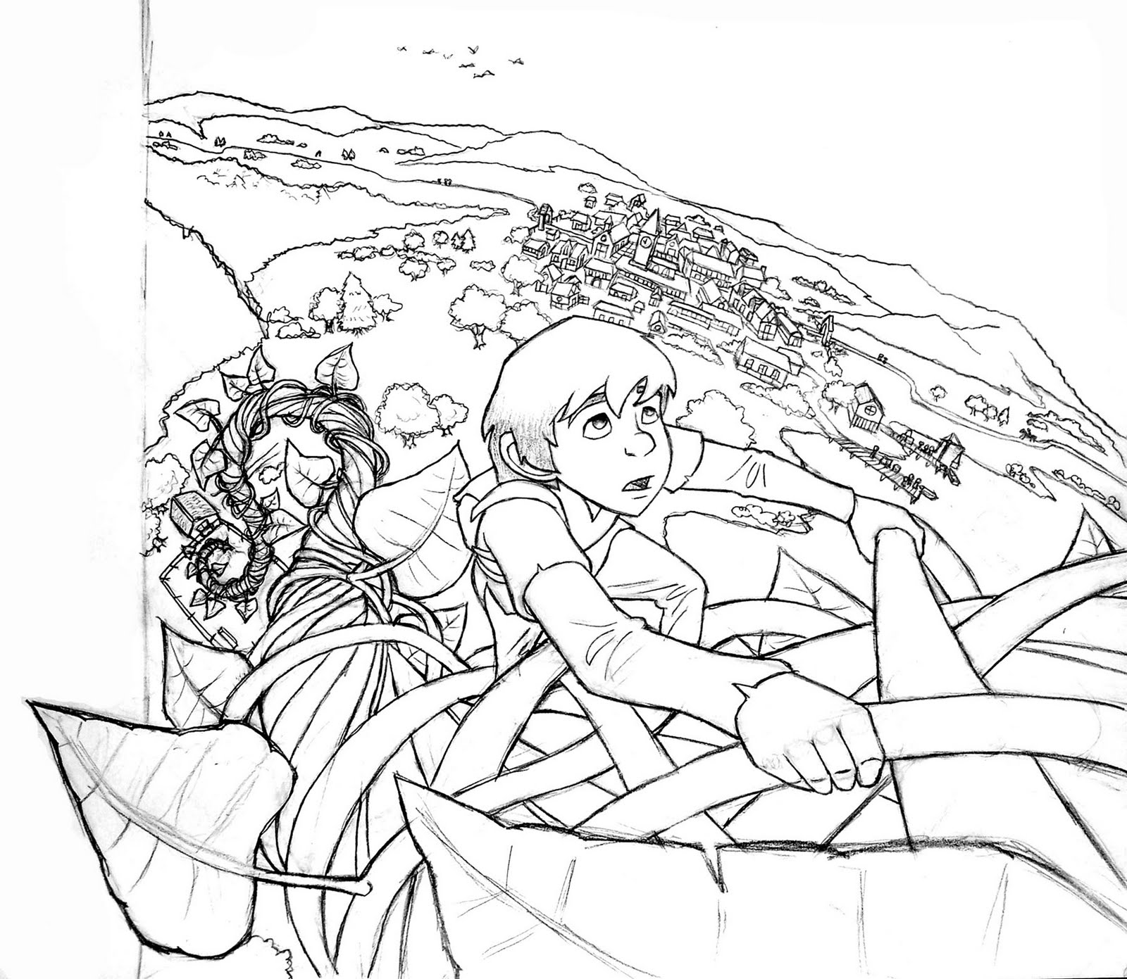 1600x1391 Jeremy Evans Illustration Jack And The Beanstalk