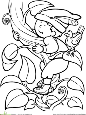 301x403 Color Jack And The Beanstalk Worksheet