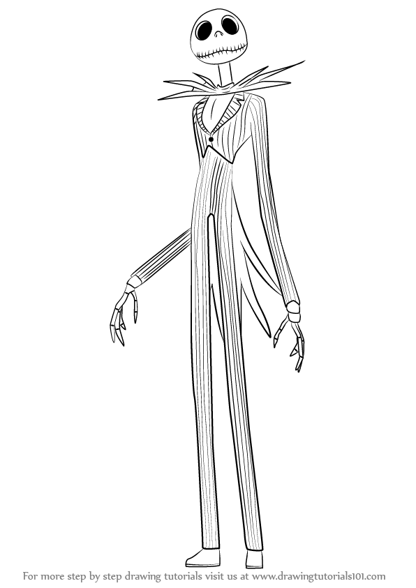 596x843 Learn How To Draw Jack Skellington From The Nightmare Before
