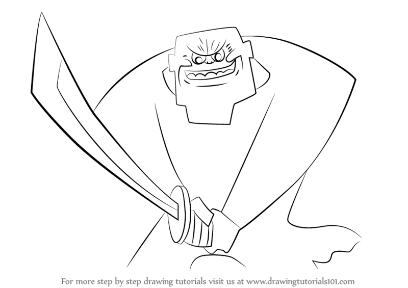 800x565 Learn How To Draw The Guardian From Samurai Jack (Samurai Jack