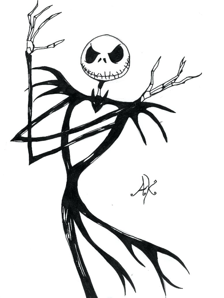 776x1030 Coloring Jack The Pumpkin King Coloring Pages Via Drawing. Jack