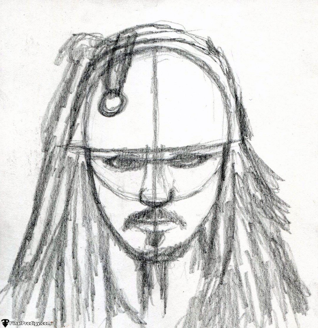1080x1111 How To Draw Captain Jack Sparrow