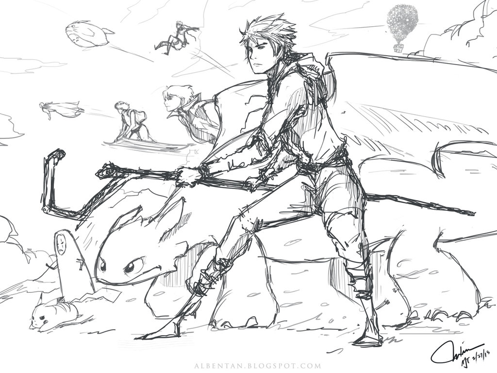 1024x768 Jack Frost And Lotsa Friends (Sketch) By Alben