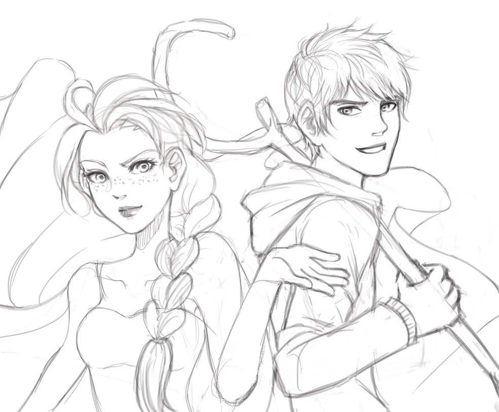 984x812 Elsa And Jack Frost Coloring Pages