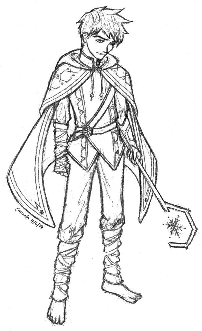 698x1145 Rotg Jack Frost (Golden Sun Au) Sketch By Cassandra Borealis