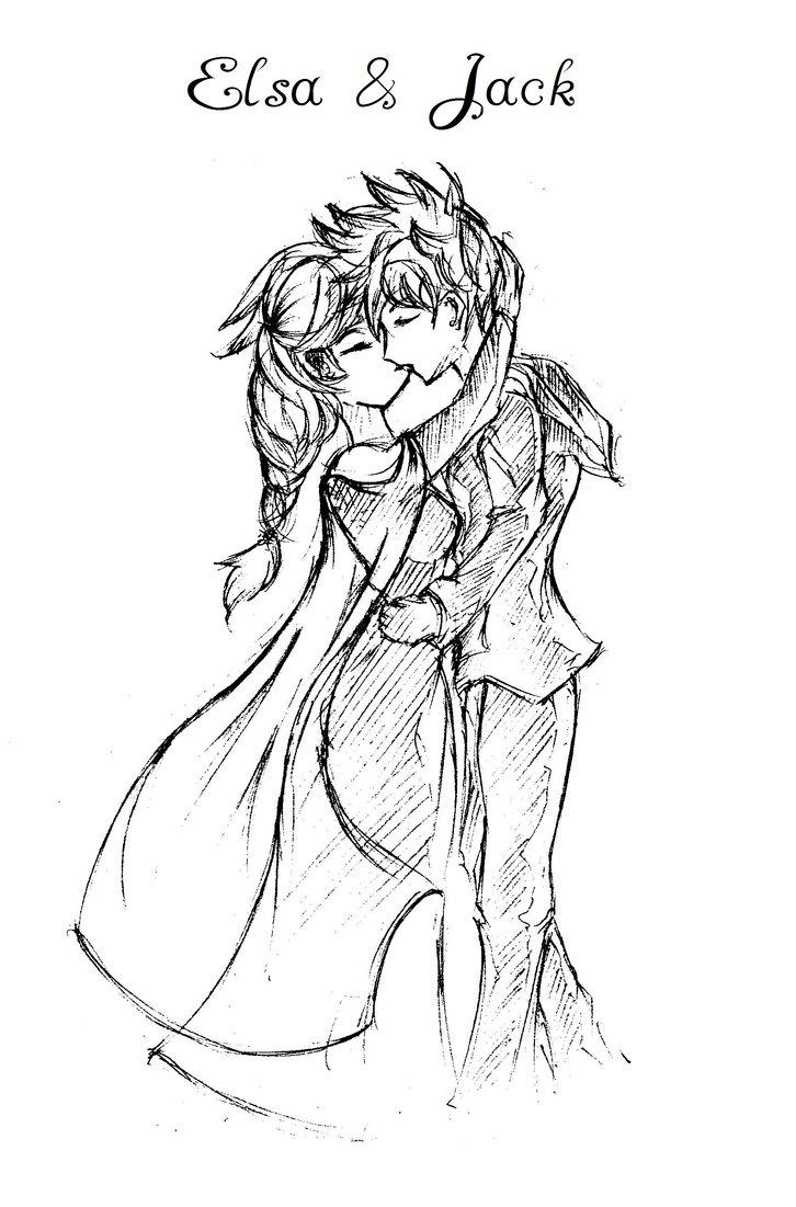726x1101 Sketch] Elsa And Jack By Kattapol