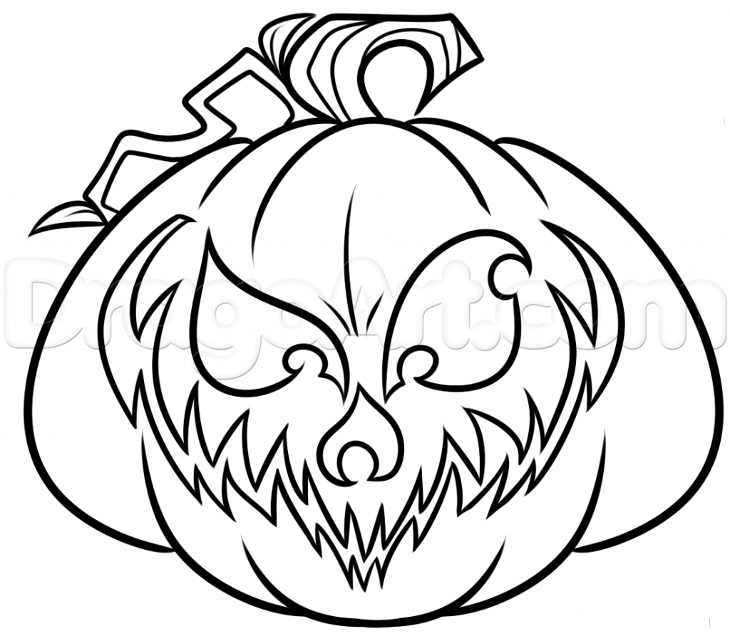 Jack O Lantern Drawing at GetDrawings.com | Free for personal use ...