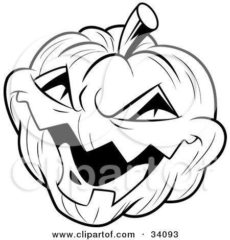 450x470 Clipart Illustration Of An Evil Laughing Carved Halloween Jack O