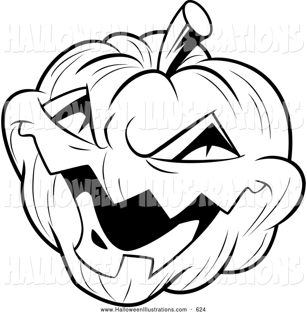 Dorable Hoja Para Colorear Jack O Lantern Ilustración - Ideas Para ...