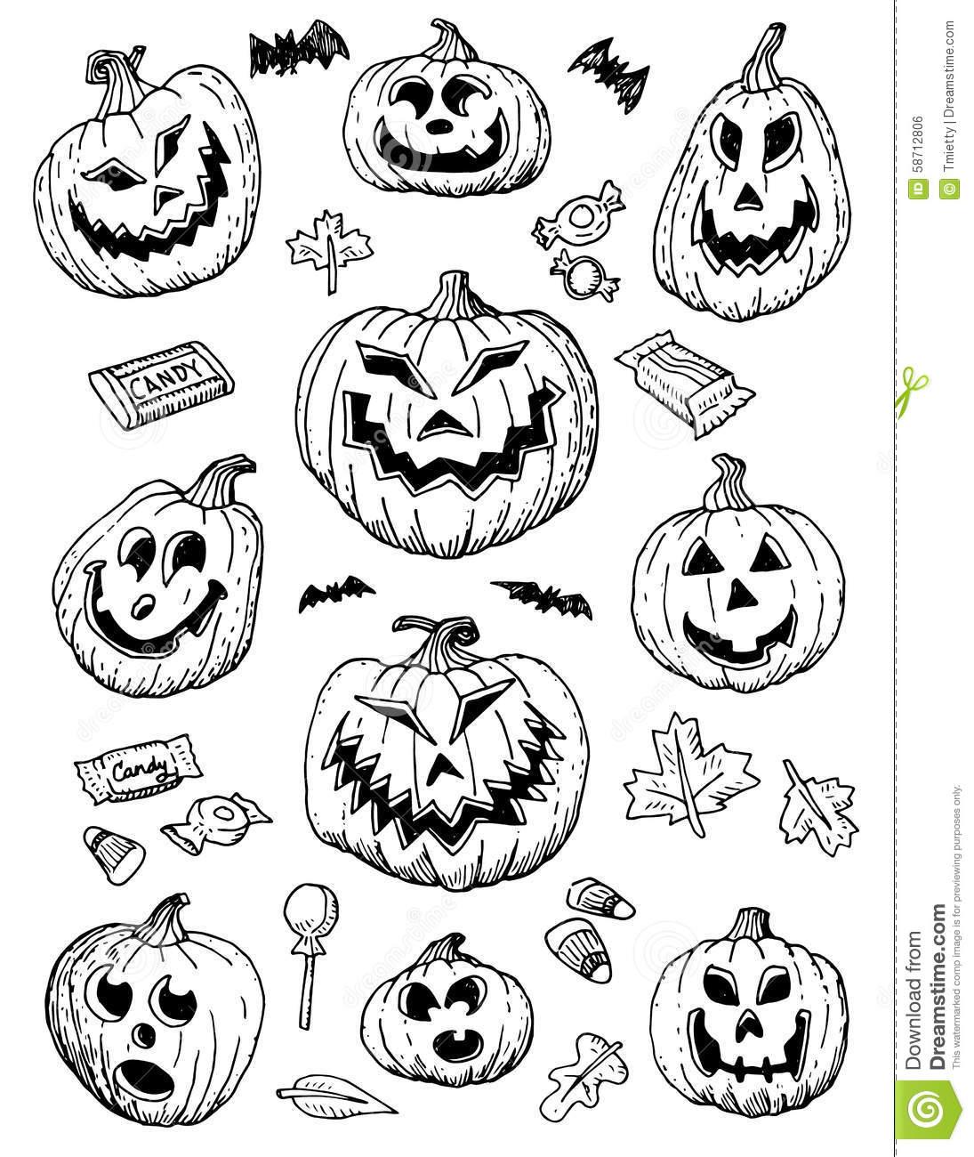 1095x1300 Image Result For Hand Drawn Halloween Jack O Lanterns Resin