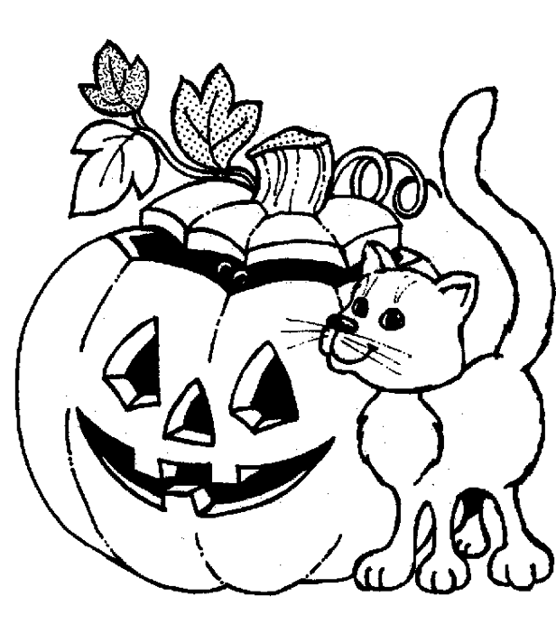 616x702 Jack O Lantern Coloring Lesson Kids Coloring Page Coloring
