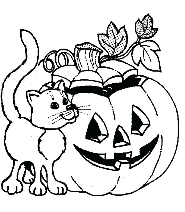 600x689 Jack O Lantern Coloring Pages Pumpkin Drawing New Free Jack O