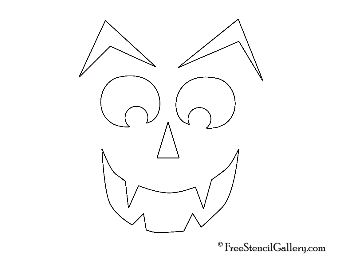 1100x850 Jack O Lantern Face 22 Free Stencil Gallery