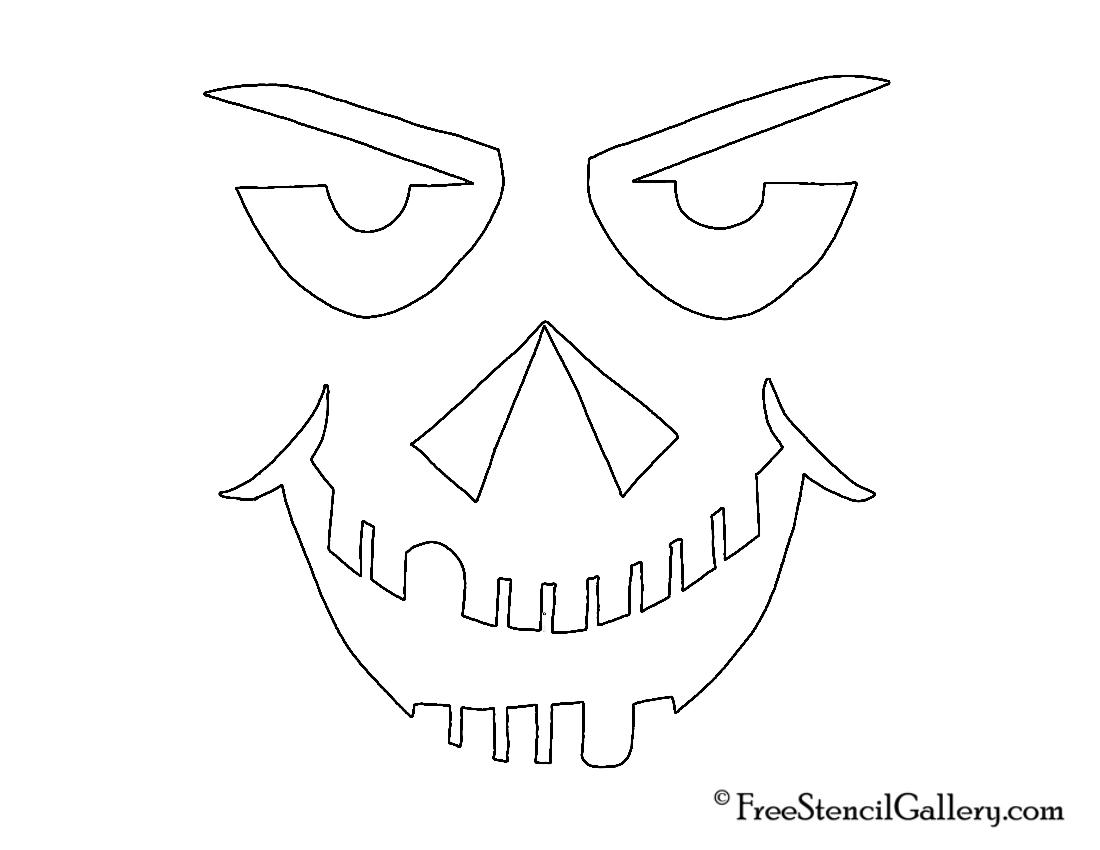 1100x850 Jack O Lantern Face 30 Free Stencil Gallery
